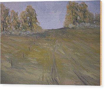 The Fence Row Wood Print by Dwayne Gresham