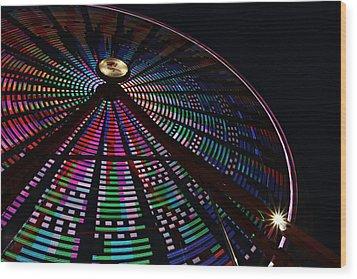 The Ferris Wheel Wood Print by Jp Grace