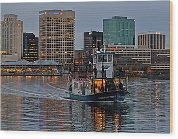 The Ferry To Portsmouth Wood Print by Jerry Gammon