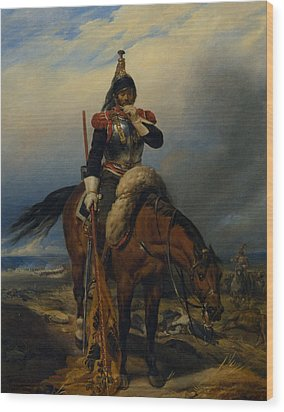 The Field Of Battle Wood Print by Paul  Delaroche
