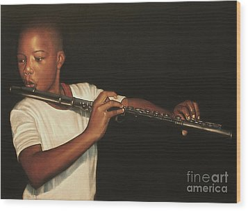 The Fifer I Wood Print by Curtis James