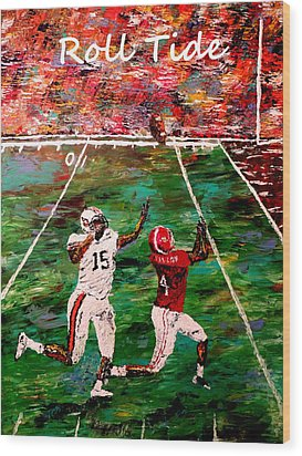 The Final Yard Roll Tide  Wood Print by Mark Moore