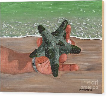 Wood Print featuring the painting The Find by Laura Forde