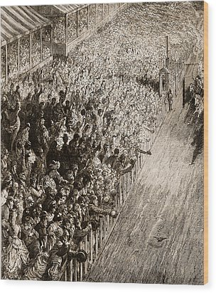 The Finishing Line Of The Derby Wood Print by Gustave Dore
