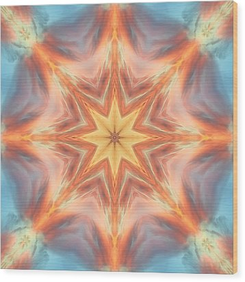 The Fire From Within Mandala Wood Print