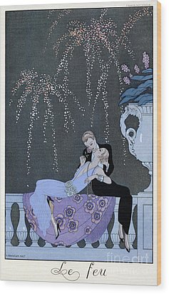 The Fire Wood Print by Georges Barbier