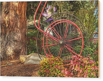 Wood Print featuring the photograph The Fire Hose Reel by Thom Zehrfeld