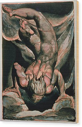 The First Book Of Urizen Wood Print by William Blake