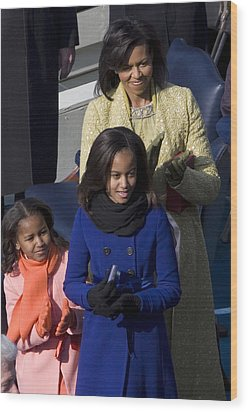 The First Lady And Daughters Wood Print by JP Tripp