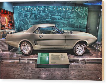 The First Mustang  Wood Print by Nicholas  Grunas