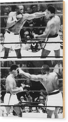 The First Sonny Liston Vs. Cassius Clay Wood Print by Everett