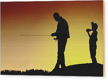 Wood Print featuring the photograph The Fisherman by Mike Flynn