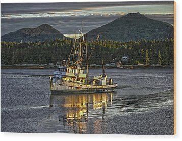 The Fishing Boat8 Wood Print