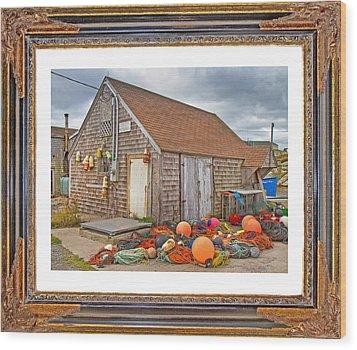 The Fishing Village Scene Wood Print by Betsy Knapp