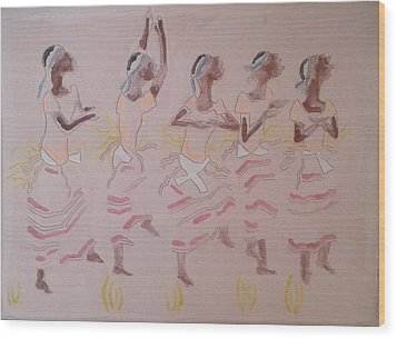 The Five Wise Virgins Wood Print by Gloria Ssali