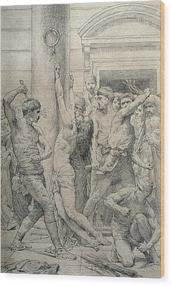 The Flagellation Of Christ Wood Print by William Adolphe Bouguereau