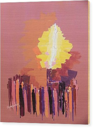 The Flare A Beacon Of Hope And Anguish Wood Print