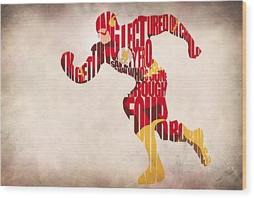 The Flash Wood Print by Ayse Deniz