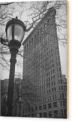 The Flatiron Building In New York City Wood Print by Ilker Goksen
