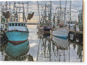 Wood Print featuring the photograph The Fleet by JC Findley