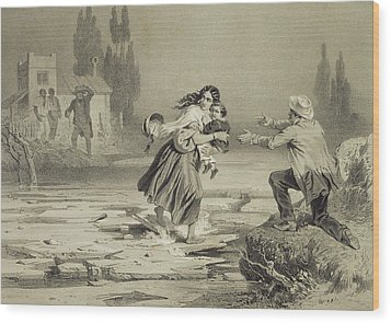 The Flight Of Eliza, Plate 3 From Uncle Wood Print by Adolphe Jean-Baptiste Bayot
