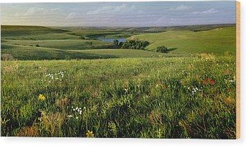 The Kansas Flint Hills From Rosalia Ranch Wood Print