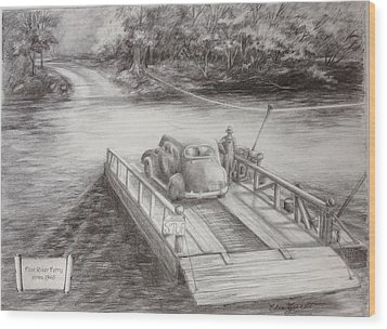 The Flint River Ferry In Georgia Wood Print