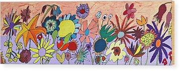 The Flowers Ran Away Wood Print