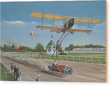 The Flying Circus Wood Print by Kenneth Young