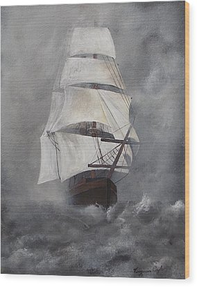 The Flying Dutchman Wood Print by Virginia Coyle