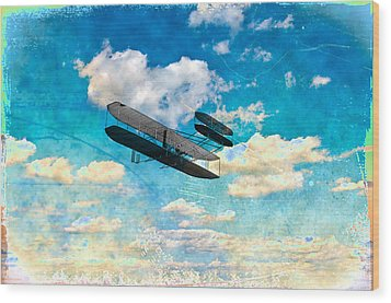 The Flying Machine Wood Print by Bill Cannon