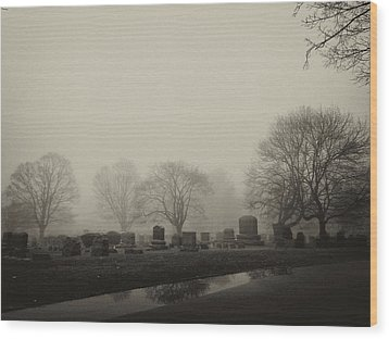 The Fog Wood Print by Jim Poulos