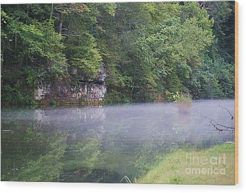 Wood Print featuring the photograph The Fog Of Late Summer by Julie Clements