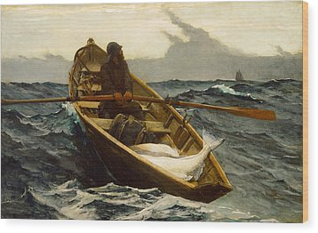 The Fog Warning Wood Print by Winslow Homer