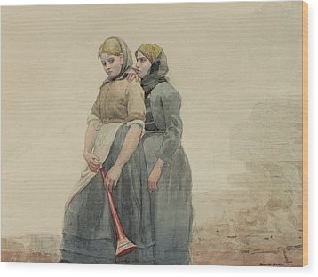 The Foghorn Wood Print by Winslow Homer