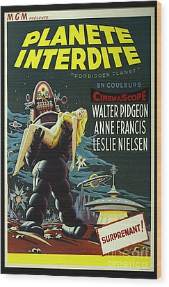 The Forbidden Planet Vintage Movie Poster Wood Print by Bob Christopher