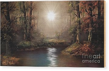 Sunrise Forest  Wood Print by Michael Rucker