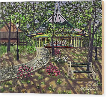The Forest Park Carousel Wood Print