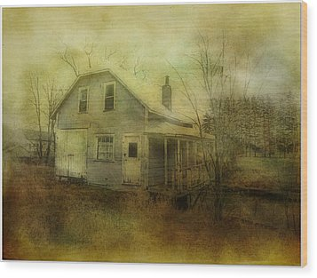 The Forgotten House  Wood Print by Dianne  Lacourciere
