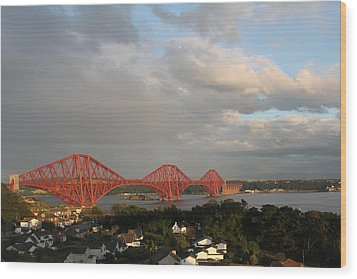 Wood Print featuring the photograph The Forth Bridge - Scotland by David Grant