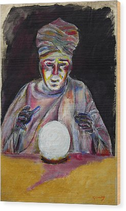 The Fortune Teller Wood Print by Tom Conway