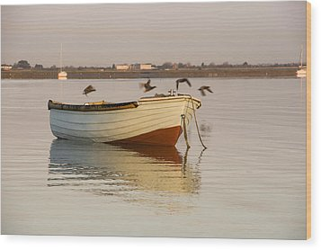 Wood Print featuring the photograph The Four Flying Boatmen by Trevor Chriss
