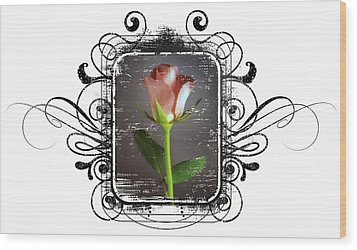 The Framed Rose Wood Print by Mauro Celotti