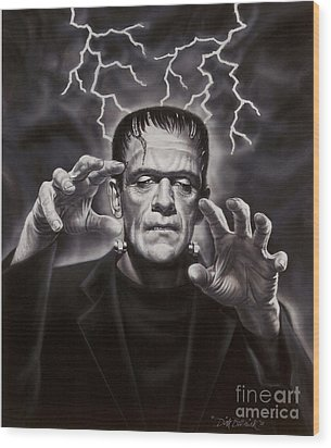 The Frankenstein Monster Wood Print by Dick Bobnick