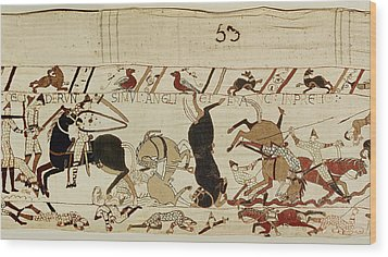 The Bayeux Tapestry Wood Print by French School