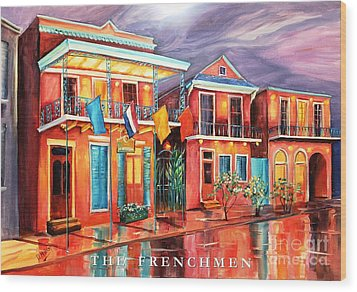 The Frenchmen Hotel New Orleans Wood Print by Diane Millsap