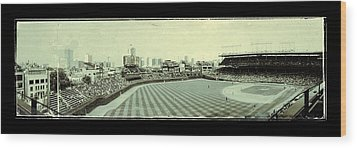 The Friendly Confines Wood Print by Jame Hayes