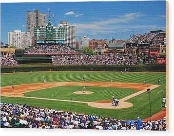 The Friendly Confines Wood Print by James Kirkikis