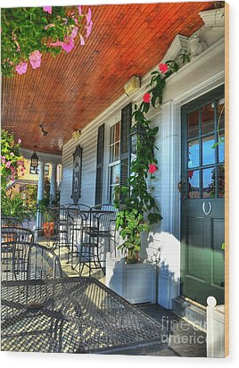 The Front Porch 2 Wood Print by Mel Steinhauer