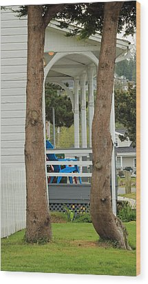 Wood Print featuring the photograph The Front Porch by E Faithe Lester